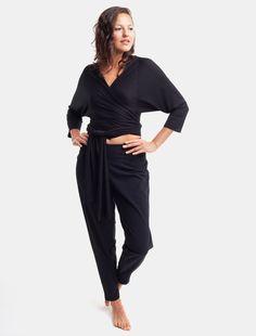 Black Performance Jersey Creative Pant