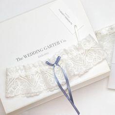 something blue catherine lace wedding garter by the wedding garter co | notonthehighstreet.com