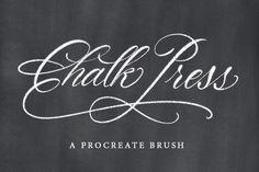 Chalk Press Procreate Brush. Photoshop Brushes. $3.00