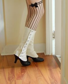 ivory tall spats with lining - standard or custom size
