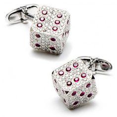 Diamond & Ruby Dice Cufflinks$19,500.00 / Pair