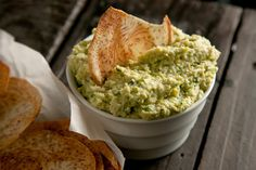 White Bean and Edamame Hummus...  I wonder if this is as good as the one they serve at RICE?