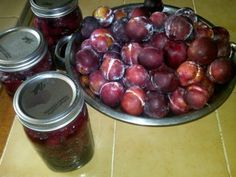 Canned plum pie filling