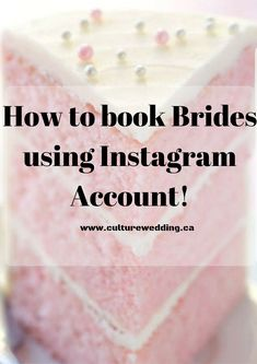 How to book Brides using Instagram