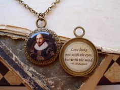 William Shakespeare Necklace  Poetry Quote by TheLysineContingency, $14.00