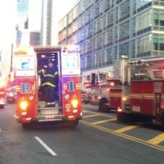 FDNY RESCUE 1 RESPONDING FROM A 10-77 HIGH FIRE ON WEST 42ND STREET TO ANOTHER CALL IN THE HELLS KITCHEN AREA OF MANHATTAN IN NEW YORK CITY GIVES ME SOME TOOTS.....(SEE PREVIOUS VIDEO)..... by themajestirium1