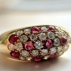 Love rubies, and pave'#jewelry