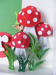 Quilled Mushrooms