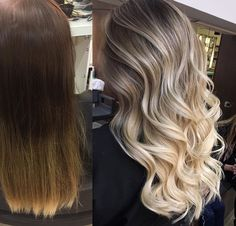 129 cute hair colors with trending styles and pictures -page 18 White Blonde Hair, Blonde Hair Looks, Balage Hair, Cute Hair Colors, Hair Color Balayage, Brown To Blonde Balayage, Balayage Highlights, Gorgeous Hair, Dyed Hair