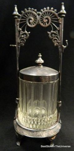 Antique Victorian Rogers  Bros Triple Plate Silverplate PICKLE CASTOR