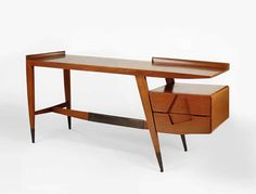 In the late 1940's Joe Singer of Singer & Sons discovered the works of Italian designer and architect Gio Ponti. The two struck up a deal that would result in the introduction of Ponti's designs to the American market.