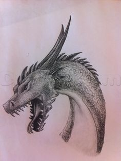 How to Draw a Dragon (step by step) http://www.dragoart.com/tuts/17141/1/1/how-to-draw-a-dragon.htm