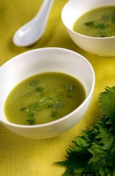 Recipe: Fresh Pea Soup With Miso || Photo: Karsten Moran for The New York Times