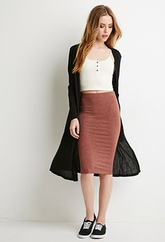 Heathered Pencil Skirt   Forever 21 - 2000131980
