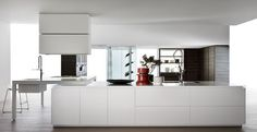 Moderne Küche / Holz / Kochinsel / lackiert BANCO by Luca Meda Dada