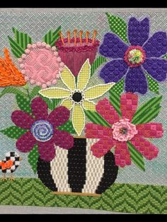 Great flower stitches, needlepoint designer unknown