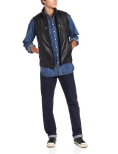 """25-inch leather or quilted nylon combo vest,       Famous Words of Inspiration...""""America is much more than a geographical fact.  It is a political and moral fact - the first community in which men set out in principle to institutionalize freedom, responsible government, and...  More details at https://jackets-lovers.bestselleroutlets.com/mens-jackets-coats/vests/product-review-for-marc-new-york-by-andrew-marc-mens-liberty-leather-vest/"""