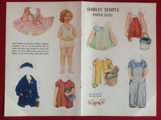 Shirley Temple Paper Dolls, x9 | Paper dolls and other paper toys