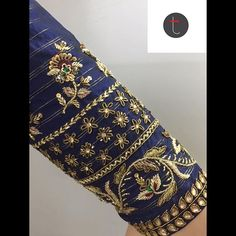 #sruthikannath #southindianbride #indianbridal #floral #bridal #pearlsandstones #sequins #annaparavai #florallove #zari #zardosiembroidery… Zardosi Embroidery, Kurti Embroidery Design, Bead Embroidery Patterns, Hand Work Embroidery, Embroidery Fashion, Hand Embroidery Designs, Beaded Embroidery, Wedding Saree Blouse Designs, Blouse Designs Silk