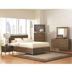 Audrey Modern Bedroom Collection | Industrial Wood and Metal Bedroom Set | Eurway