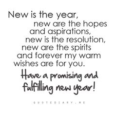 New Year quote.