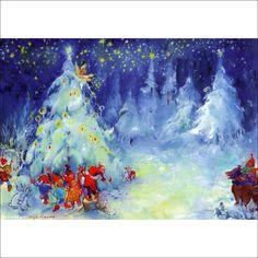 Christmas by Maija Karma Helsinki, Troll, Karma, Fairy Tales, Arts And Crafts, Auction, Colours, Illustrations, Artists