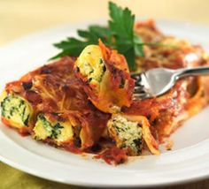 Spinach and ricotta canelloni!