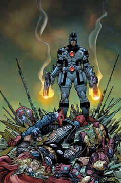 Noh-Varr as Protector - Avengers #27 cover by Walt Simonson.