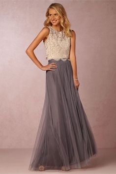 Cleo top and Louise skirt – perfect combination for a whimsical summer wedding. 2016 bridesmaid dress trends - separate top and bottom. leonardofilms.ca