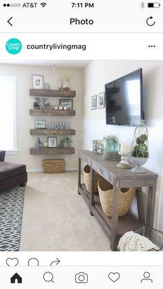 I like the shelf beneath the tv.