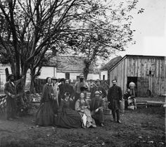 Women entered new areas of public activism during the Civil War. Above, nurses and officers of the U.S. Sanitary Commission in Fredericksburg, Virginia. Image courtesy of the Library of Congress, Washington D. C.