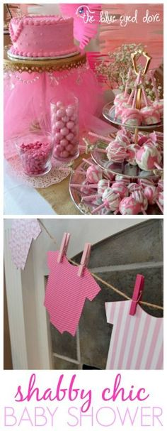 Easy decorating tips for throwing the perfect Shabby Chic Baby Shower! theblueeyeddove.com