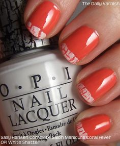 Nail Art Crackle Tips (neat Canada Day idea) Really Cute Nails, Pretty Nails, Get Nails, Hair And Nails, The Art Of Nails, Nail Tips, Nail Ideas, Cute Nail Designs, Sally Hansen