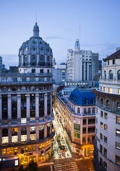 The beautiful city of #BuenosAires at dusk.