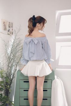 Japanese fashion two sides wear striped shirt AddOneClothing.com Size Chart