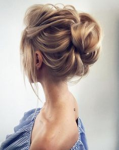 79 Beautiful Bridal Updos Wedding Hairstyles For A Romantic Bridal - hair do's - Hochzeit Haar Messy Wedding Hair, Wedding Hair And Makeup, Wedding Updo, Romantic Wedding Hair, Wedding Simple, Wedding Ideas, Bride Makeup, Wedding Themes, Trendy Wedding