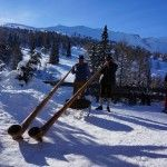 Alpenhorn and a snow shoe trek, January 2014