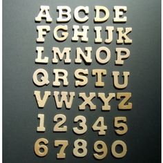 PICK YOUR OWN Plain WOODEN Letters and Numbers - 2cm tall - MDF & Wood Words, Letters & Numbers - Plain Wooden Boxes & Decoupage Blanks | Craftmill