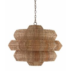 Antibes Chandelier features a striking woven shade crafted using traditional techniques. Natural rattan forms the body of this geometric chandelier, supported by a Khaki wrought iron frame. Available in two sizes. Chandelier Ceiling Lights, Pendant Lighting, Light Pendant, Chandelier Chain, Round Chandelier, Wooden Chandelier, Natural Chandeliers, Geometric Lamp, Lights