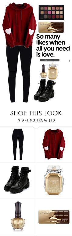 """""""Love"""" by izzwhizzicorn on Polyvore featuring Victoria's Secret, Anna Sui, Christian Dior and Too Faced Cosmetics"""