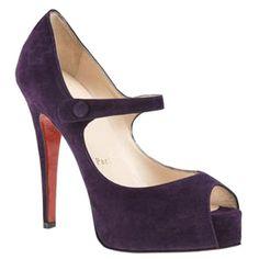 Mary Jane Peep-Toe Platforms Pumps Purple; My heart just skipped a beat.