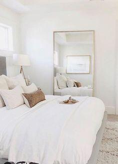 Room Ideas Bedroom, Home Decor Bedroom, Bedroom Inspo, Bright Bedroom Ideas, Dream Rooms, Dream Bedroom, White Bedroom Decor, Bedroom Apartment, Apartment Living