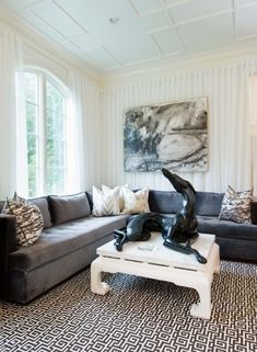 wispy curtains as wallcovering all around this room by Tiffany Eastman
