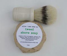 Shaving Soap TWEED scent soap for men VEGAN