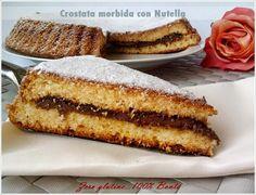 Oggi una torta buonissima e facile da preparare…la Crostata morbida con nutella ,senza glutine e senza burro. Non ha la consistenza della frolla e non è al