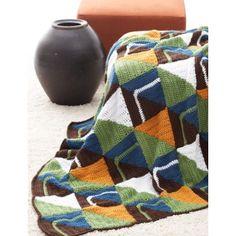 Free Intermediate Afghan Crochet Pattern. Graphic Afghan. #freepattern #crochet #intermediate