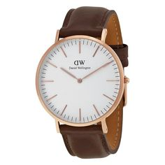 This handsome men's timepiece features a white dial and stylish brown leather…