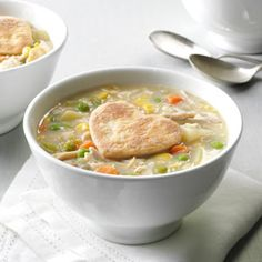 Chicken Potpie Soup Recipe  Made this for dinner tonight. Huge hit!!! Also VERY filling. Recipe was generous as my kiddos only ate about one ladle full. Will have plenty of leftovers for another meal. 5 stars!