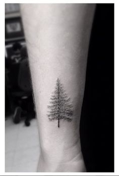 What does pine tree tattoo mean? We have pine tree tattoo ideas, designs, symbolism and we explain the meaning behind the tattoo. Wrist Tattoos For Guys, Small Wrist Tattoos, Foot Tattoos, Finger Tattoos, Tattoos For Women, Guy Tattoos, Tree Tattoo Meaning, Tree Tattoo Men, Tattoos With Meaning