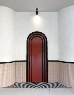 The art-deco inspired entry to cocktail bar in Beverly Hills designed by Bar Interior, Interior Barn Doors, Interior Exterior, Home Interior Design, Interior Architecture, The Doors, Windows And Doors, Panel Doors, Sliding Doors